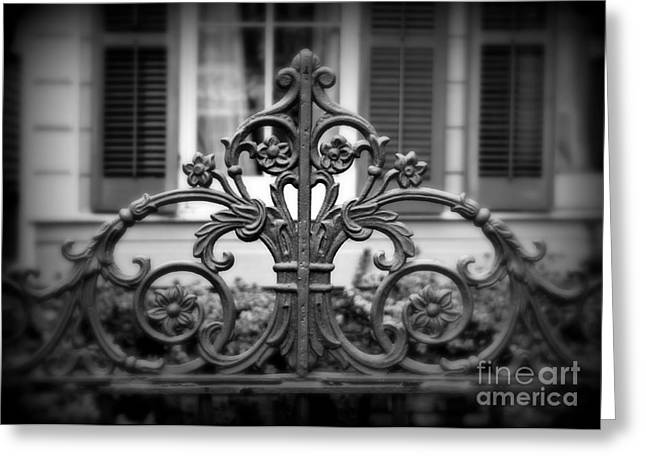 Wrought Iron Detail Greeting Card by Perry Webster