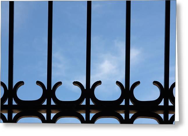 Wrought Iron Gate Greeting Cards - Wrought Iron Gate Greeting Card by Joe Kozlowski