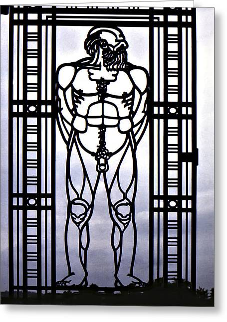 Oslo Greeting Cards - Wrought Iron Gate Greeting Card by Steve Harrington