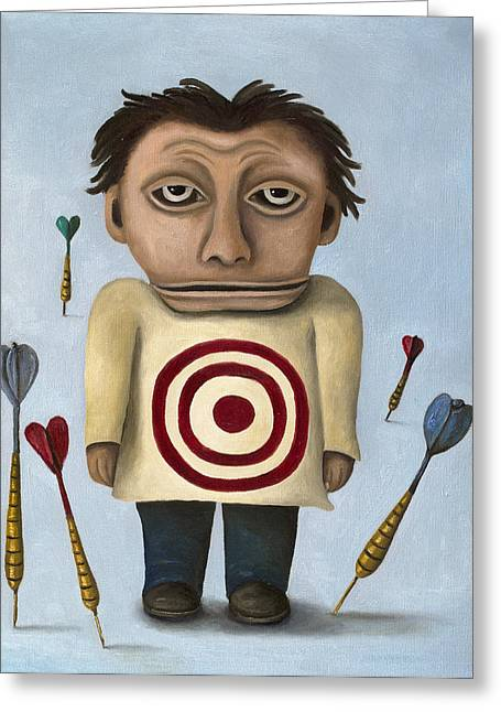 Archery Paintings Greeting Cards - WTF 2 No Words Greeting Card by Leah Saulnier The Painting Maniac