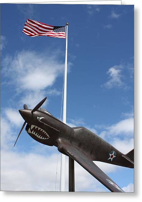 Hickam Greeting Cards - WW II Flyers Memorial Hickam AFB Greeting Card by Craig Wood
