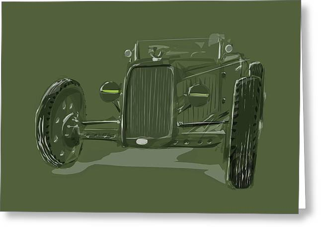Wire Wheels Greeting Cards - WW2 Rod Greeting Card by Jeremy Lacy