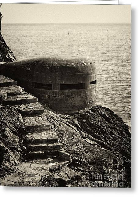 Leda Photography Greeting Cards - WWII Pill Box Greeting Card by Leslie Leda