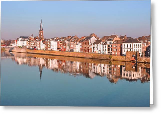 Wyck Greeting Cards - Wyck in Maastricht Greeting Card by Nop Briex