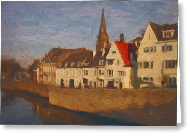 Limburg Digital Greeting Cards - Wyck in Winter sunlight Greeting Card by Nop Briex