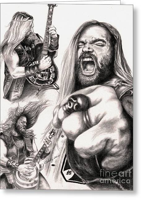 Famous Person Drawings Greeting Cards - Wylde Man Greeting Card by Kathleen Kelly Thompson