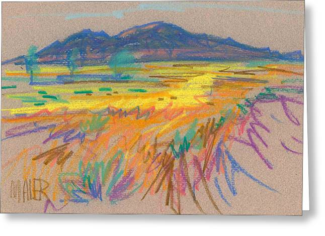 Wyoming Paintings Greeting Cards - Wyoming Sketch Greeting Card by Donald Maier