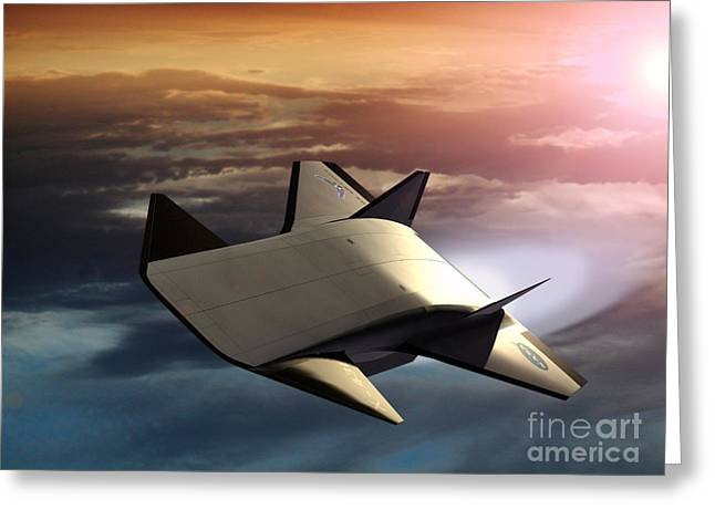 Aeronautics Greeting Cards - X-43b Aircraft Greeting Card by NASA / Science Source