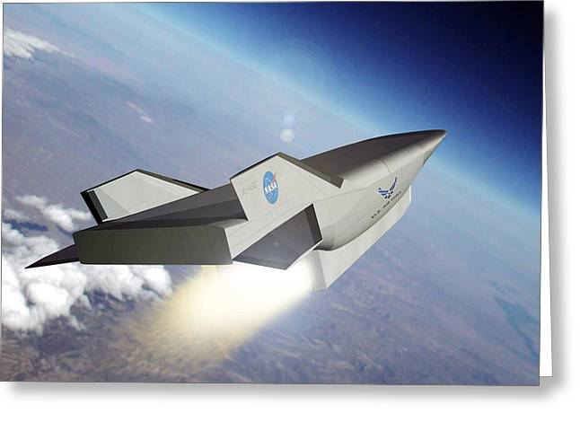 X-plane Greeting Cards - X-43c Aircraft Greeting Card by Nasa