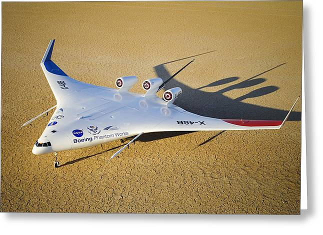 X Wing Greeting Cards - X-48b Blended Wing Body Aircraft Model Greeting Card by Robert Ferguson, Nasa
