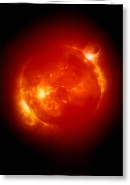 Ejection Greeting Cards - X-ray Image Of Sun Greeting Card by Detlev Van Ravenswaay