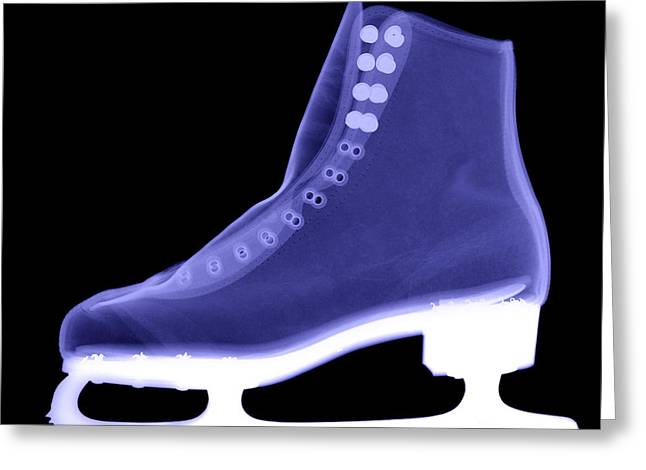 Ice-skating Greeting Cards - X-ray Of An Ice Skate Greeting Card by Ted Kinsman