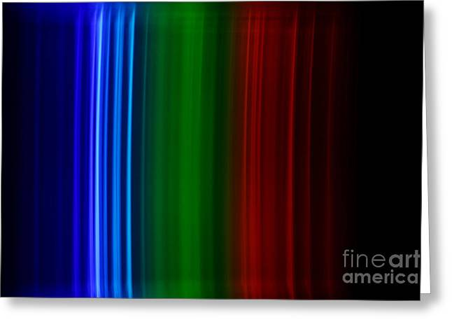 Spectra Greeting Cards - Xenon Spectra Greeting Card by Ted Kinsman