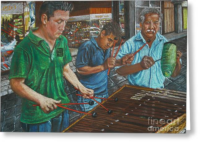 Xylophone Greeting Cards - Xylophone Players Greeting Card by Jim Barber Hove