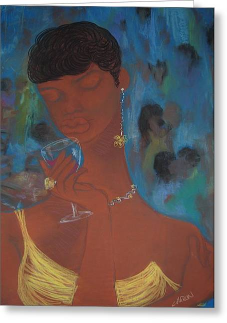 African-americans Pastels Greeting Cards - Y Greeting Card by Charon Rothmiller
