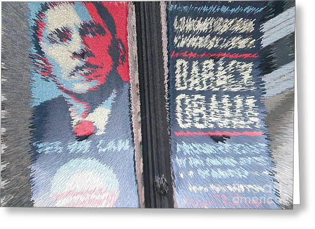 Barack Greeting Cards - Y E S - W E - C A N Greeting Card by David Bearden