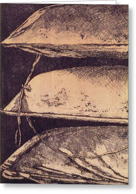 Stack Drawings Greeting Cards - Yacht Club 3 Greeting Card by Julie Dalton Gourgues