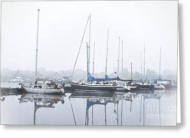 Docked Boat Greeting Cards - Yachting Club Greeting Card by Stefan Kuhn