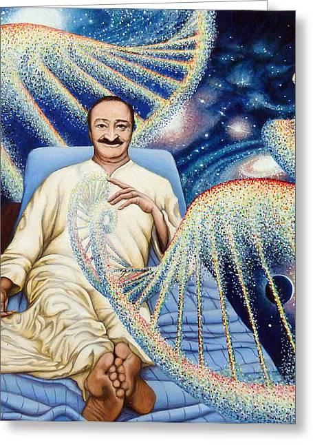 Baba Paintings Greeting Cards - Yad Rakh Greeting Card by Nad Wolinska