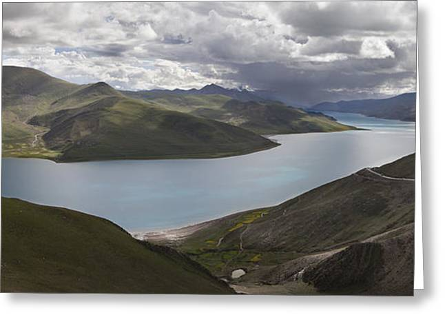 Tibetan Buddhism Greeting Cards - Yamdrok-tso Also Called Yamdrok Lake Or Greeting Card by Phil Borges