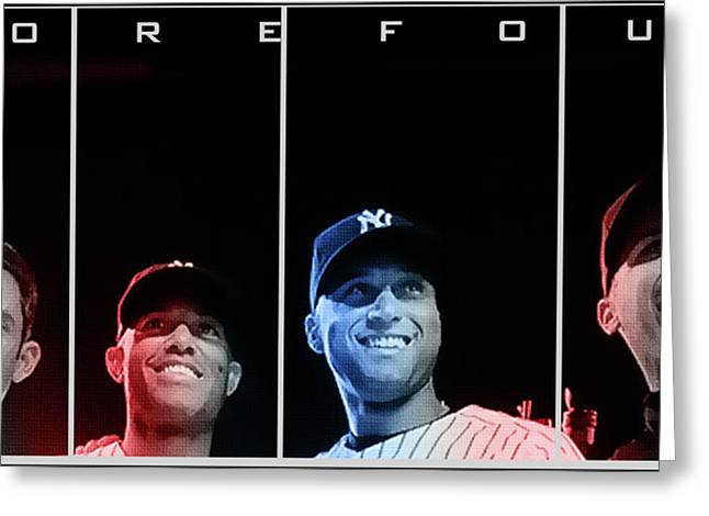 Yankee Greeting Cards - Yankee Core Four by GBS Greeting Card by Anibal Diaz