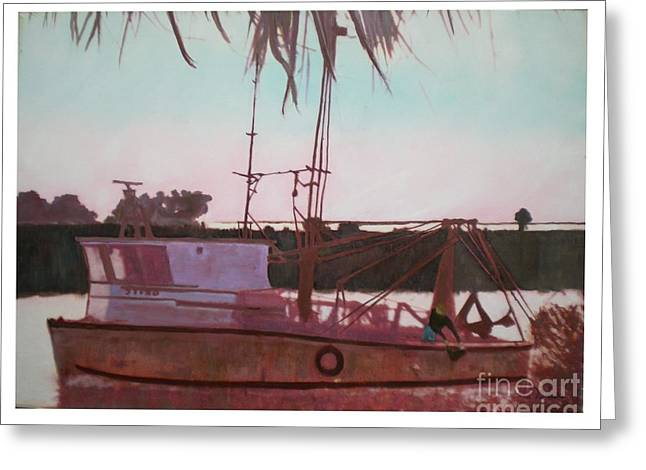 Seacape Digital Art Greeting Cards - Yankee Town  Fishing Boat Greeting Card by Hal Newhouser