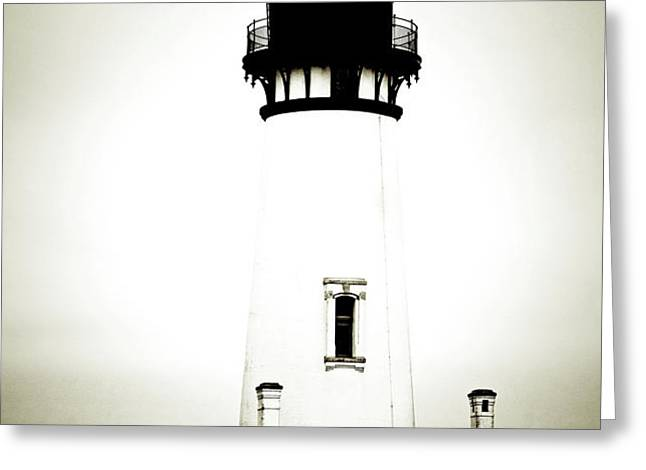 Yaquina Head Light - Haunted Oregon Lighthouse Greeting Card by Christine Till