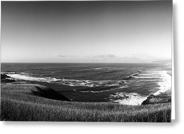 Agate Beach Greeting Cards - Yaquina Head Light Greeting Card by Jan Faul