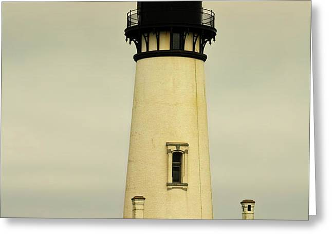 Yaquina Head Lighthouse - Newport OR Greeting Card by Christine Till
