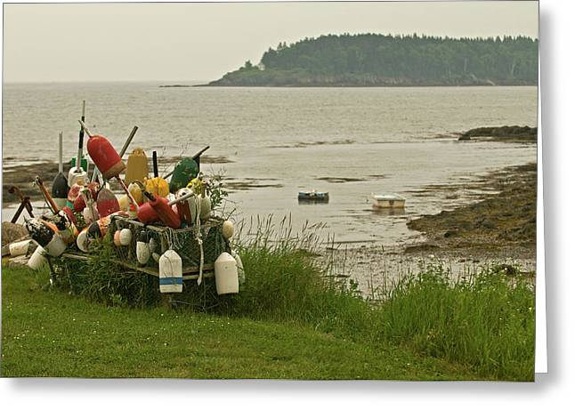 Mid-coast Maine Greeting Cards - Yard Art Greeting Card by Paul Mangold