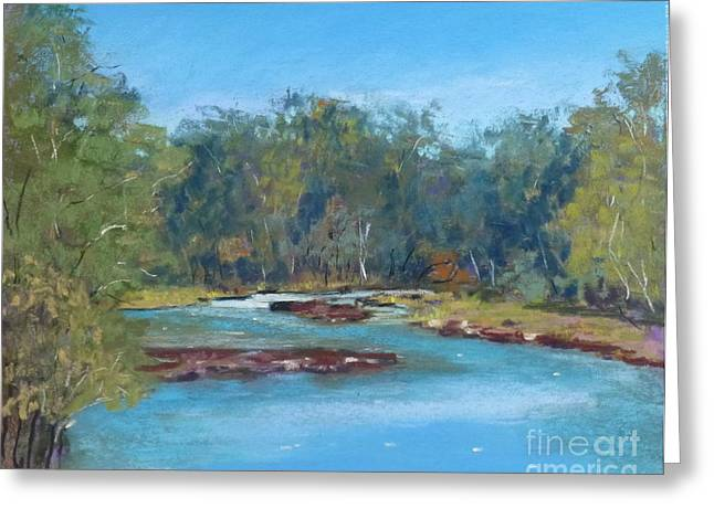 Yarra River Warrandyte Greeting Card by Nadine Kelly