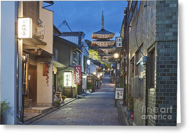 Kyoto Greeting Cards - Yasaka Pagoda Greeting Card by Rob Tilley