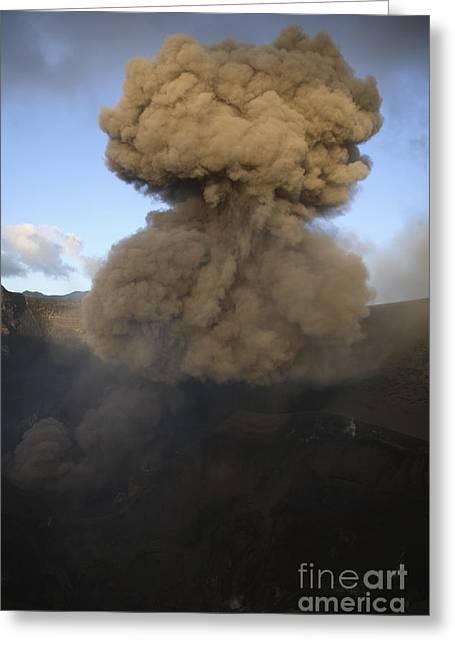 Yasur Eruption, Tanna Island, Vanuatu Greeting Card by Martin Rietze