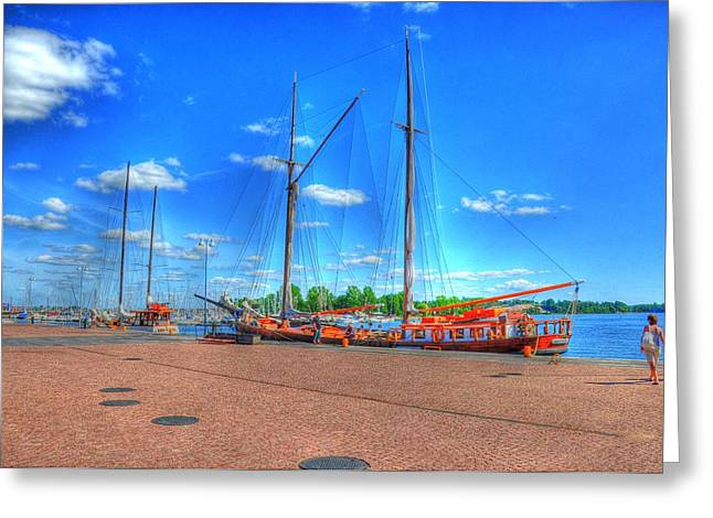 Malmo Digital Art Greeting Cards - Yatchs Greeting Card by Barry R Jones Jr