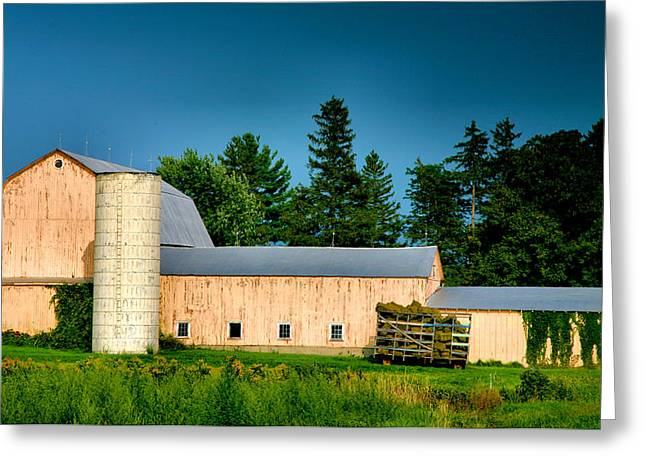 Agriculture Framed Prints Greeting Cards - Yates County Farm Greeting Card by Steven Ainsworth