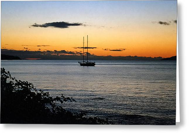 Pacific Ocean Prints Greeting Cards - Yawl Greeting Card by Adam Rozsa