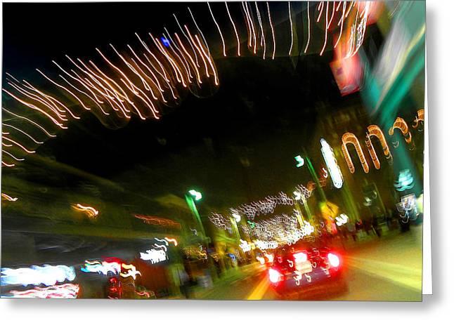 Night Scenes Greeting Cards - Ybor City at Night Greeting Card by Elizabeth Hoskinson