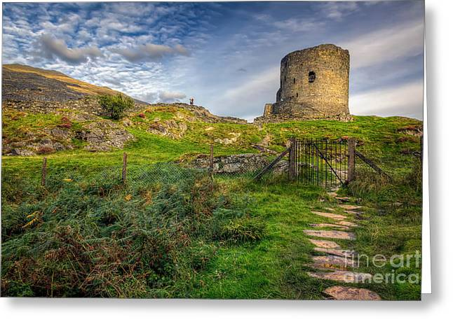Castle Gates Greeting Cards - Ye Olde Path  Greeting Card by Adrian Evans