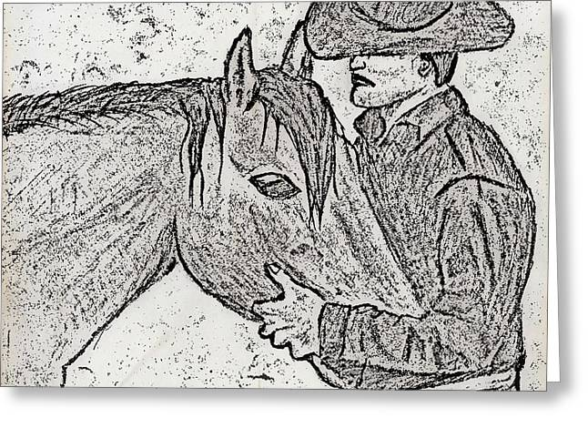 Sand Storm Drawings Greeting Cards - Yeeeehaw Greeting Card by Sanjay Avasarala