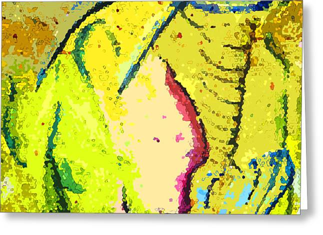 Yello Greeting Card by Mindy Newman