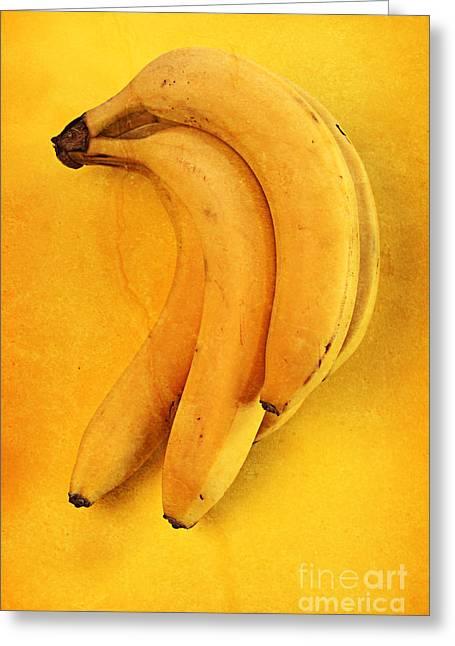 Fresh Food Mixed Media Greeting Cards - Yellow Greeting Card by Andreas Berheide