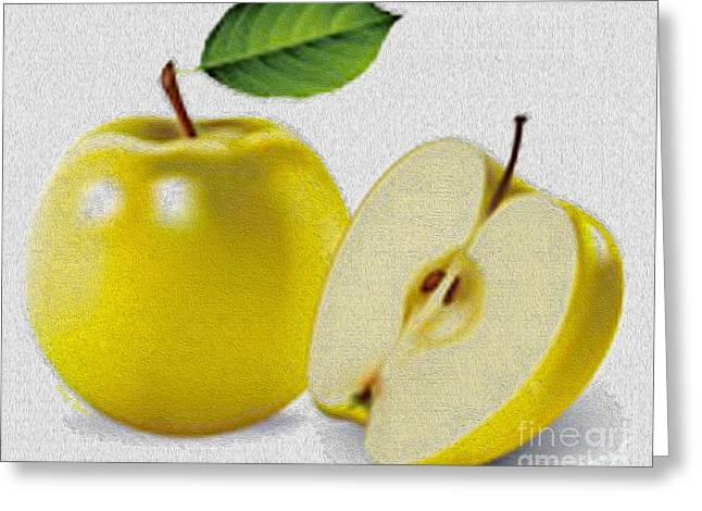 Crisp Greeting Cards - Yellow Apples Greeting Card by Cheryl Young