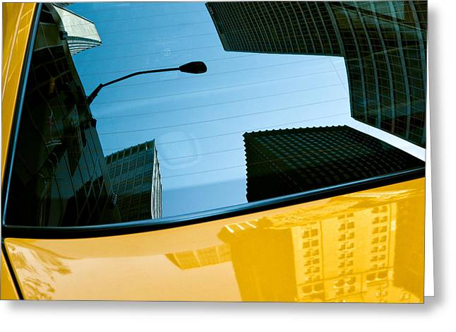 New Car Greeting Cards - Yellow Cab Big Apple Greeting Card by Dave Bowman