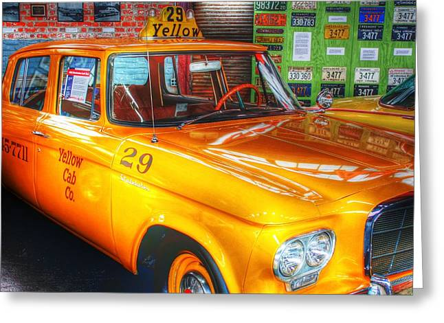 Hail A Cab Greeting Cards - Yellow Cab No.29 Greeting Card by Dan Stone