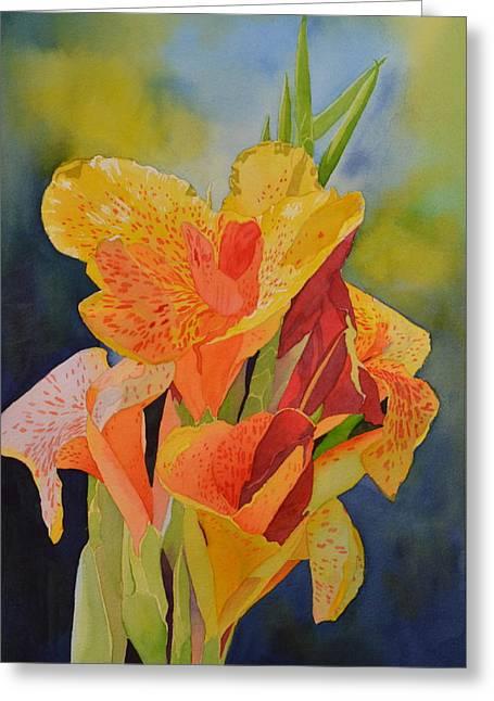 Yellow Canna Greeting Card by Cynthia Sexton