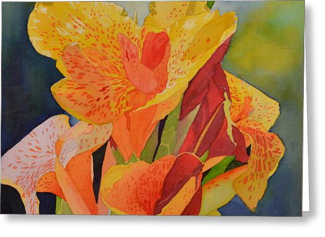 Yellow Canna Greeting Card by Cynthia Sexton