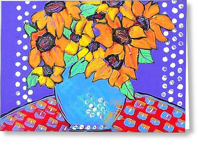 Daisy Greeting Cards - Yellow Daisies Still Life Greeting Card by Blenda Studio