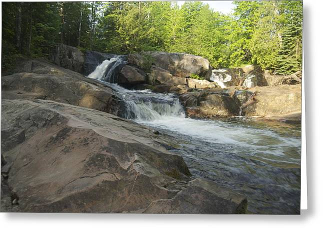 Yellow Dog River Greeting Cards - Yellow Dog Falls 2 Greeting Card by Michael Peychich