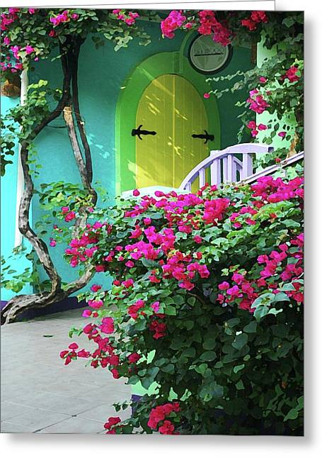 Watermelon Greeting Cards - Yellow Door Greeting Card by Michael Thomas