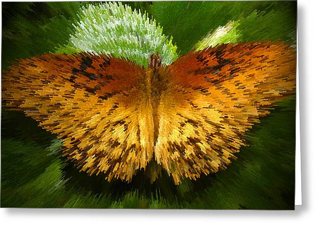 Butterfly Digital Art Greeting Cards - Yellow in the garden Greeting Card by David Lee Thompson